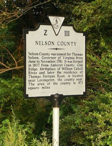 Nelson County Marker