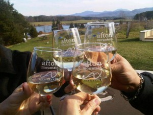 Afton Mountain Vineyards glasses image