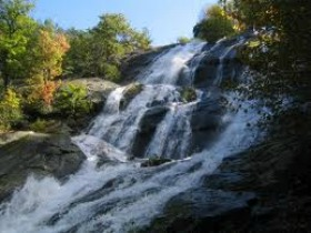 Crabtree Falls upper falls in fall image