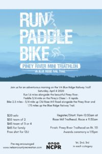 Piney River Mini Triathlon Flyer
