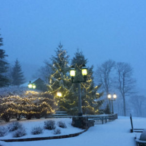 Wintergreen Resort 1 snow lights image