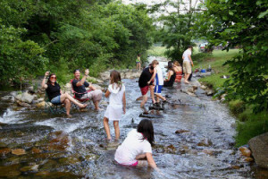 Wintergreen Winery 1 people river image