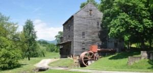 Woodsons Mill in spring image