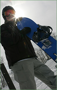 Snowboarder in Nelson County